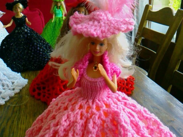 New Handmade  VICTORIAN STYLE BALLGOWN clothes for Barbie Dolls designed and made by nannycheryl  914 x 00