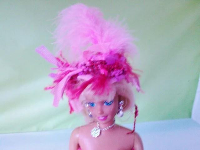 New handmade ASCOT STYLE DRESS and Hatdesigned fort- barbie doll clothes    (nannycheryl original)    804  x  81