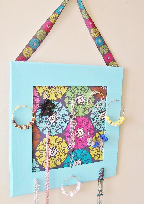 Light Blue Jewelry Organizer, Jewelry Holder, Jewelry hanger - StrictlyCute