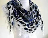 Traditional Turkish-style,  Necklace scarves,mothers day, scarf, gift, fashion, 2012, Special Fashion, spring celebration, leopard