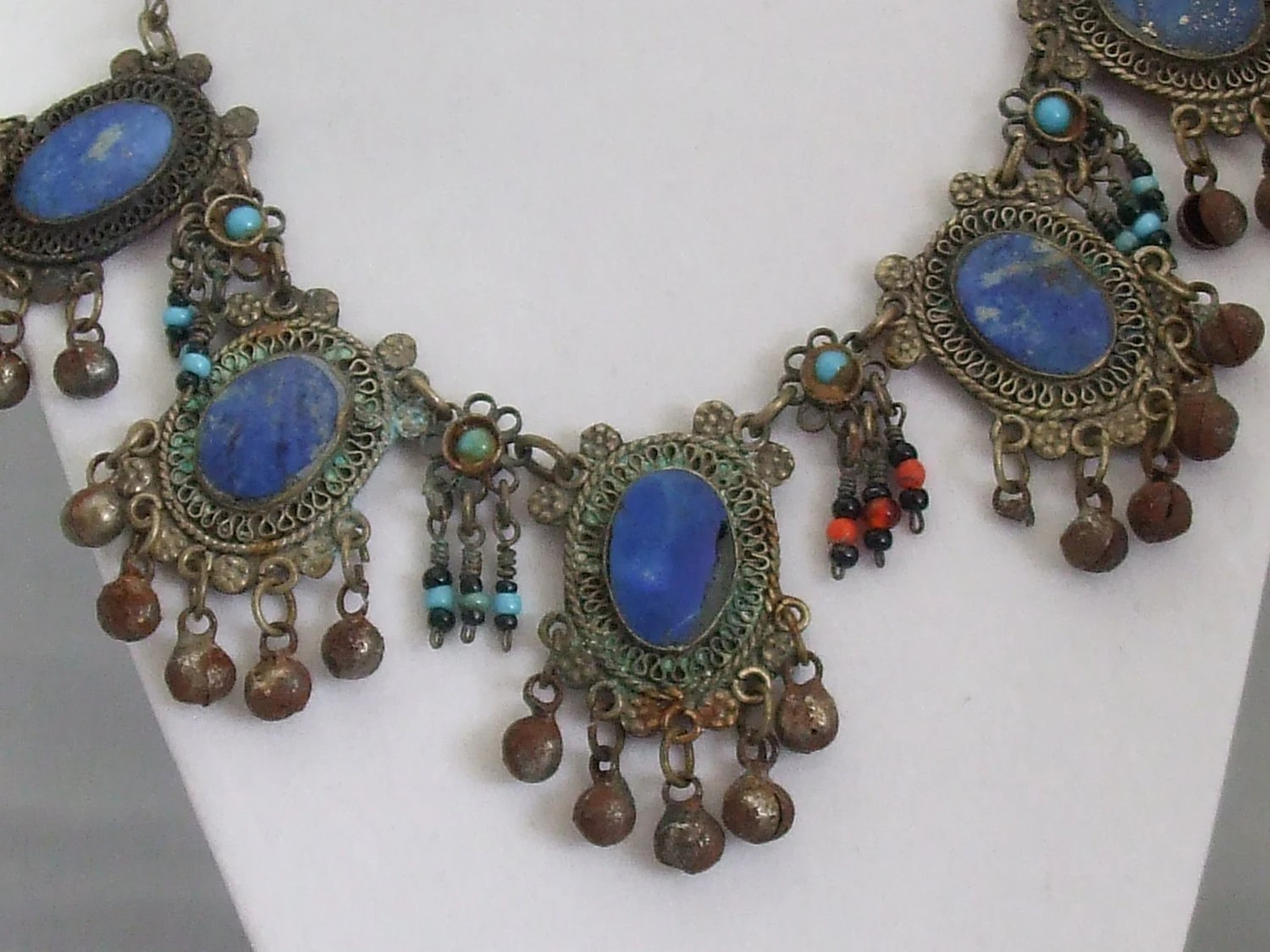 Primitive Afghani Tribal Necklace approximately 75-100 years old