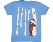 KIDS TODDLER / Tree Hugger - T-shirt Boy Girl Children Tee Shirt Cute Beard Mustache Birch Tree Forest Lumberjack T-shirt - Blue - 2 4 6 - GnomEnterprises