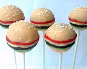 Cheeseburger Cake Pops - ACakePop