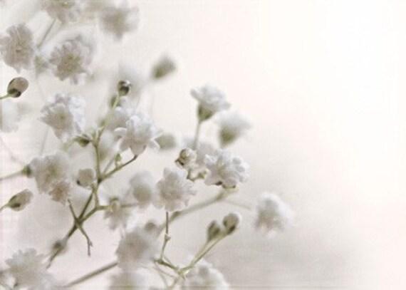 White pale faded muted pure minimal minimalistic snow winter soft photograph - Breathe 2 - ACEO (mini print) - Fine Art Photography Print