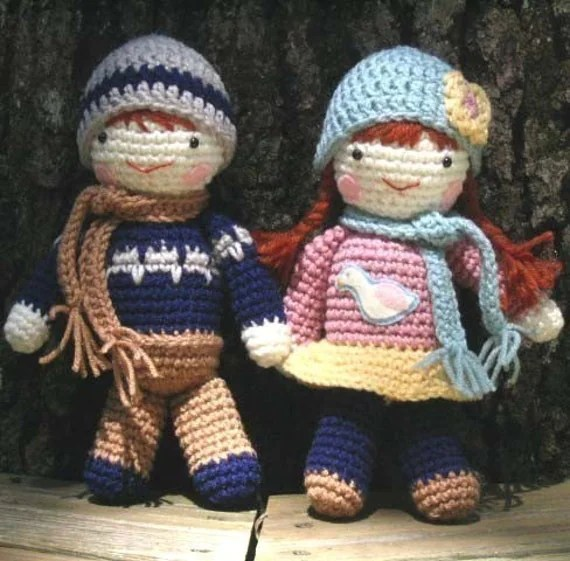 Amigurumi Sweetheart Dolls Crochet Pattern