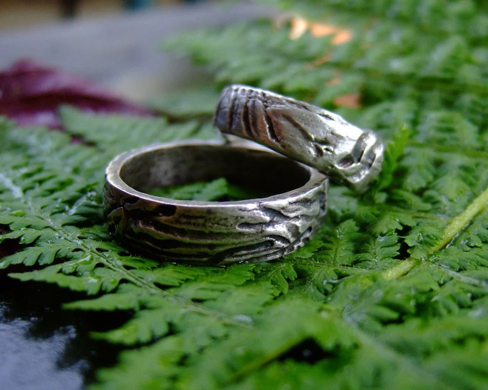 Marks of Time, set of handmade silver rings