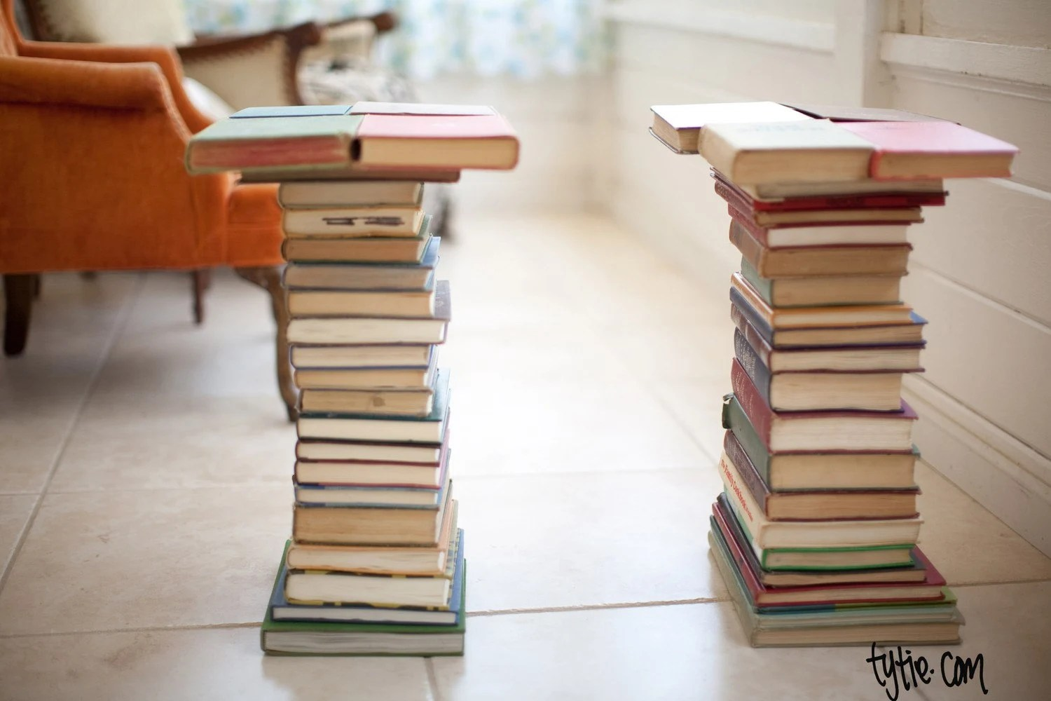 End Tables - made from books