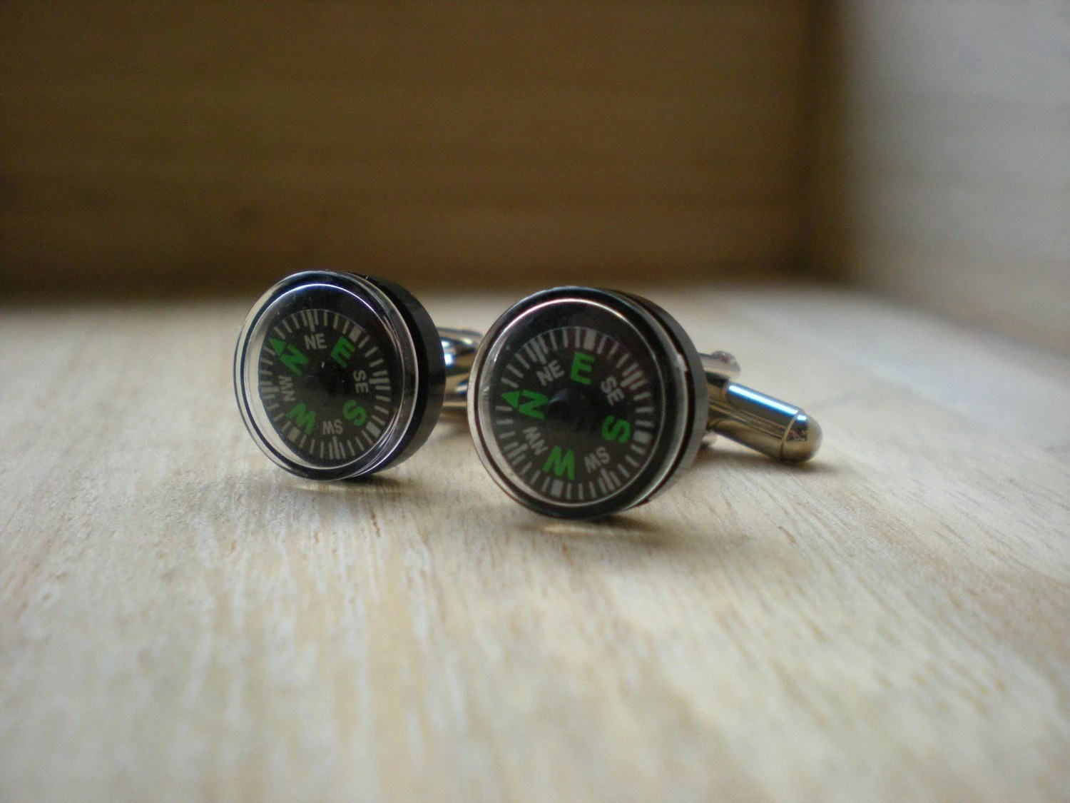 Mini Compass Cufflinks