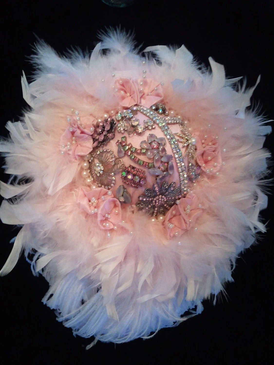 Feather Brooch Bridal Bouquet- Pretty in Pink Edition II