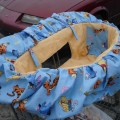 Classic winnie the pooh high chair cover chair covers