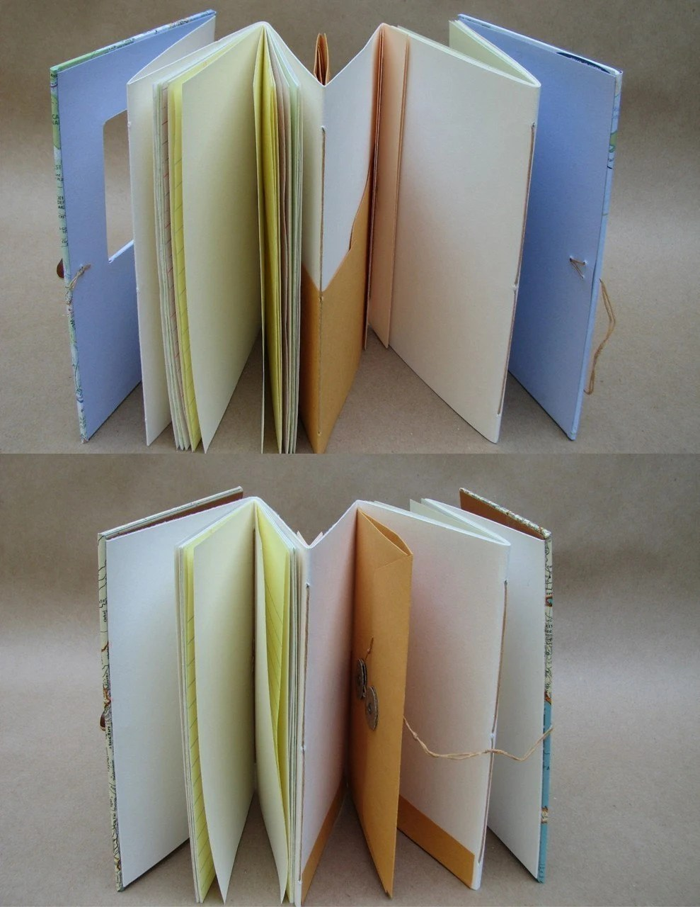 Versatile Travel Journal Notebook with Map Handmade for Artists, Scrapbookers and Writers Made to Order for You