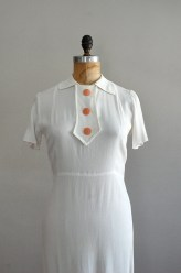 1930s dress / vintage 30s / Cinq Etudes Crepe dress
