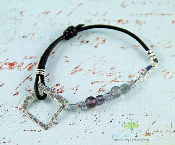 Shavasana bracelet - fluorite gemstones & sterling silver