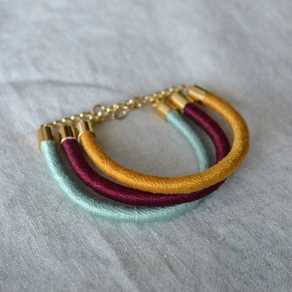 SUCRE rope bracelet // mustard