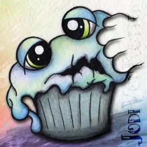 so sad mr gloomy cakes cupcake charm pendant necklace
