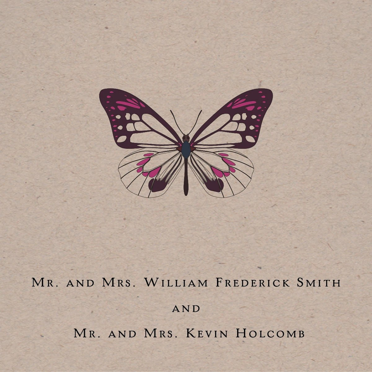 Printable Wedding Invitation - Butterfly Classic