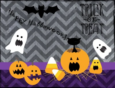 DIY Printable- Card/Invites- Halloween- Scary Faces