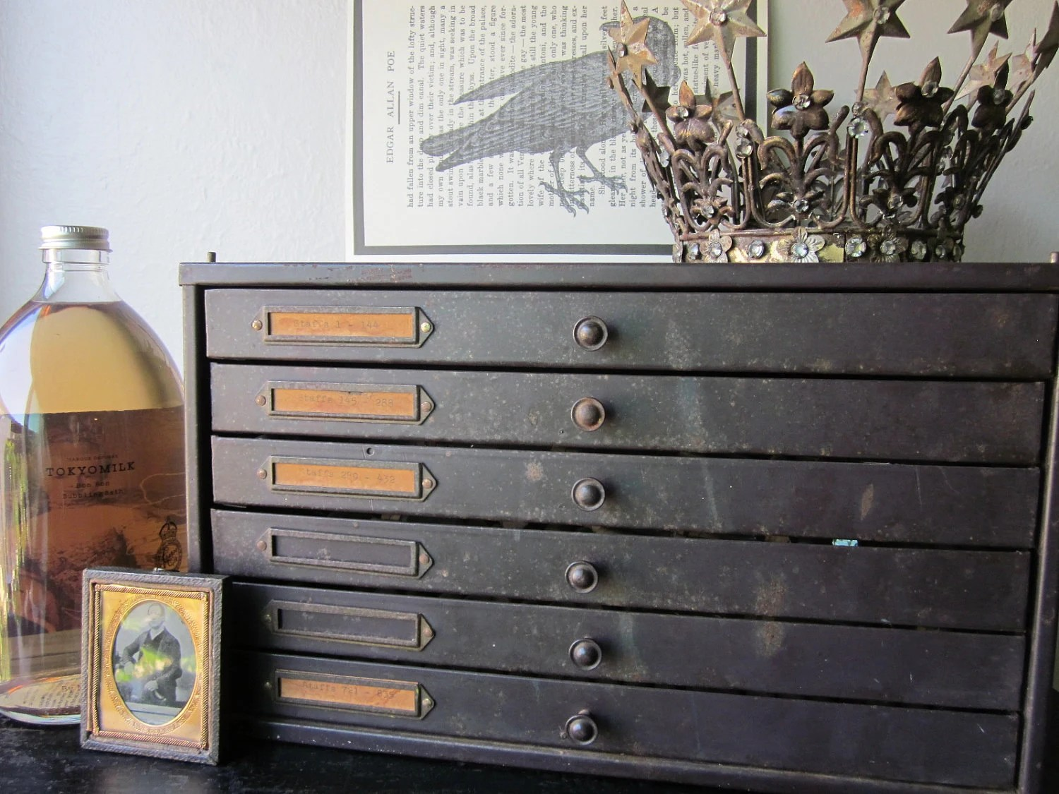 Metal Watch Parts Cabinet