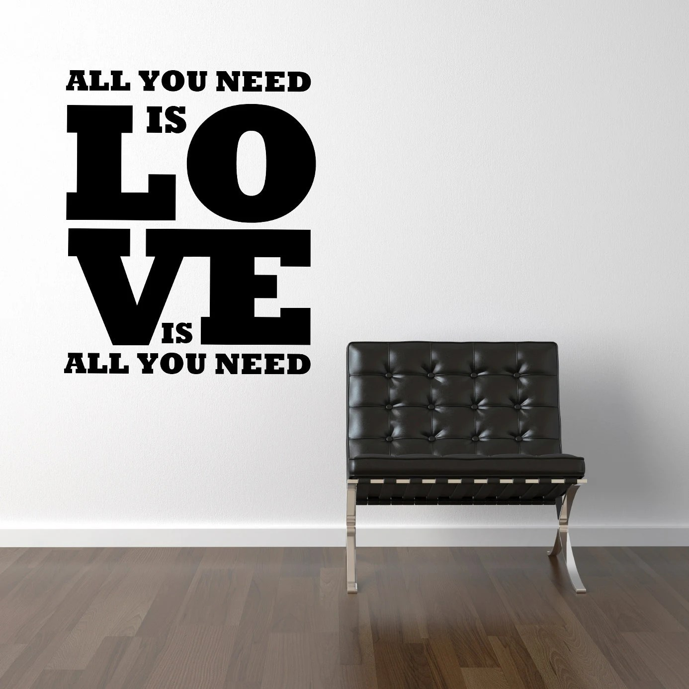 All you need is love - Vinyl Wall Decals Stickers Art Graphics Words Lettering vinyl wall decal (small)