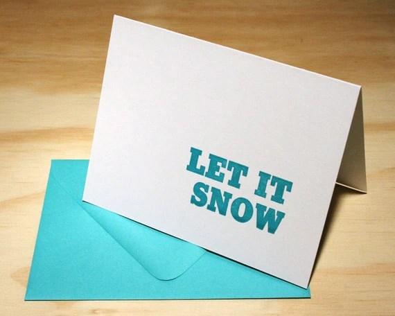 Let it Snow Christmas Letterpress Cards - Set of 6 - Stymie Statements