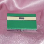 Compact - Bourjois - green and cream enamel on chrome