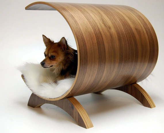Dog pod lounge - Walnut