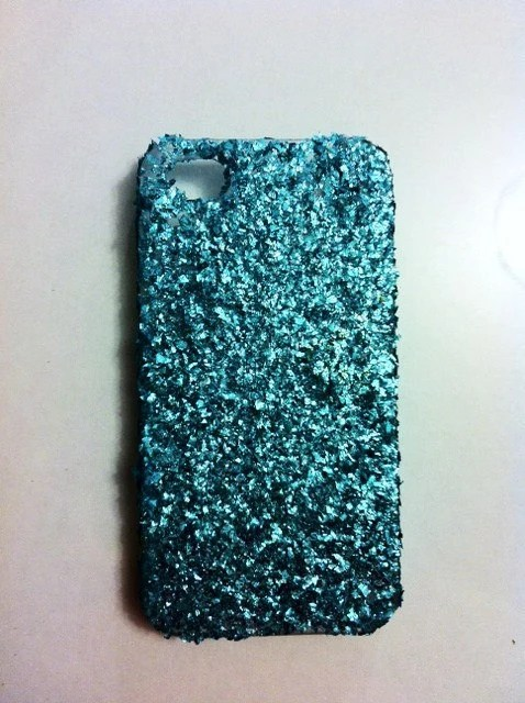 Turquoise Glitter iPhone 4 4s Hard Case