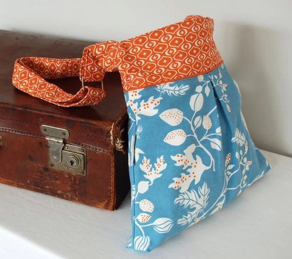 Blue and Orange Hobo Bag - Shoulder Bag