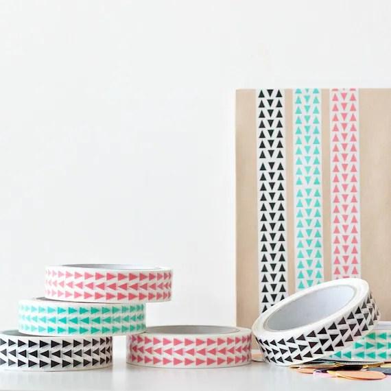 1 x Triangles Decorative Sticky Tape - One Roll