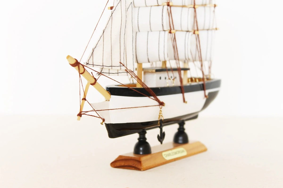 Vintage charles morgan ship boat model