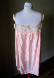 Vintage 1920s Soft Pink Silk Step-in Envelope Chemise Rare XL Size
