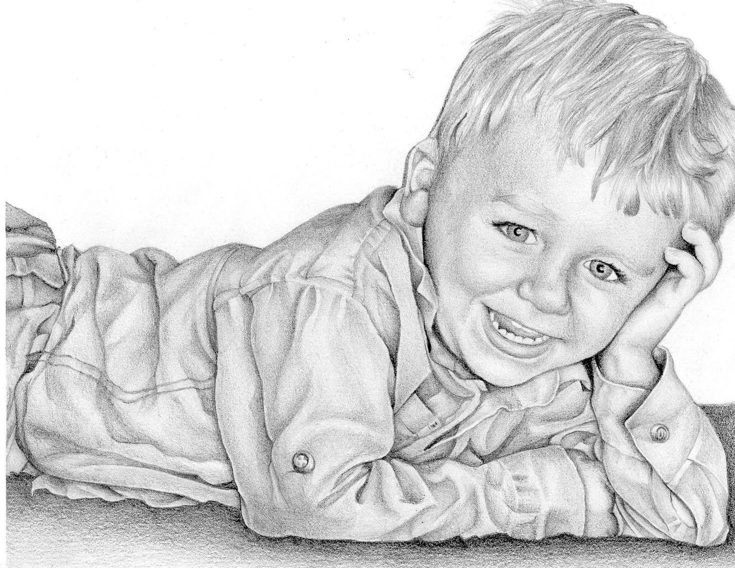 Custom Portrait from photo. Mothers day.FREE SHIPPING  Pencil drawing to capture your special memory forever