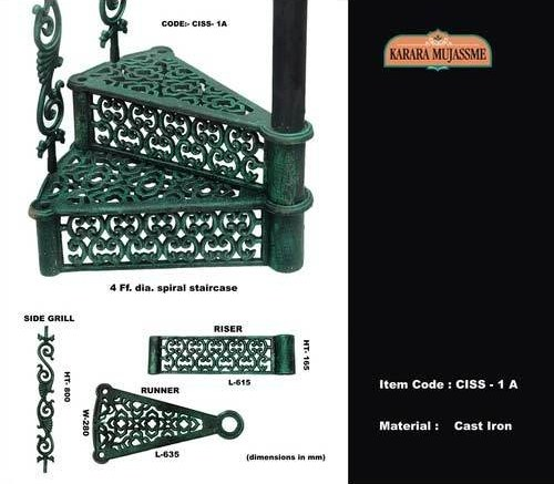 Buy Vintage Cast Iron Spiral Staircase From Karara   Spiral Staircase Outdoor Near Me