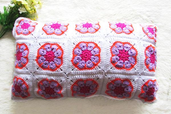 crochet pillows handmade cotton cushion covers