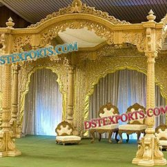 Where To Buy Chair Sashes Bulk Covers Indian Wedding Traditional Wooden Mandap Sets Manufacturer & From | Id - 929064