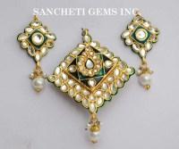Buy Kundan Polki Pendant Earring Set from Sancheti Gems ...