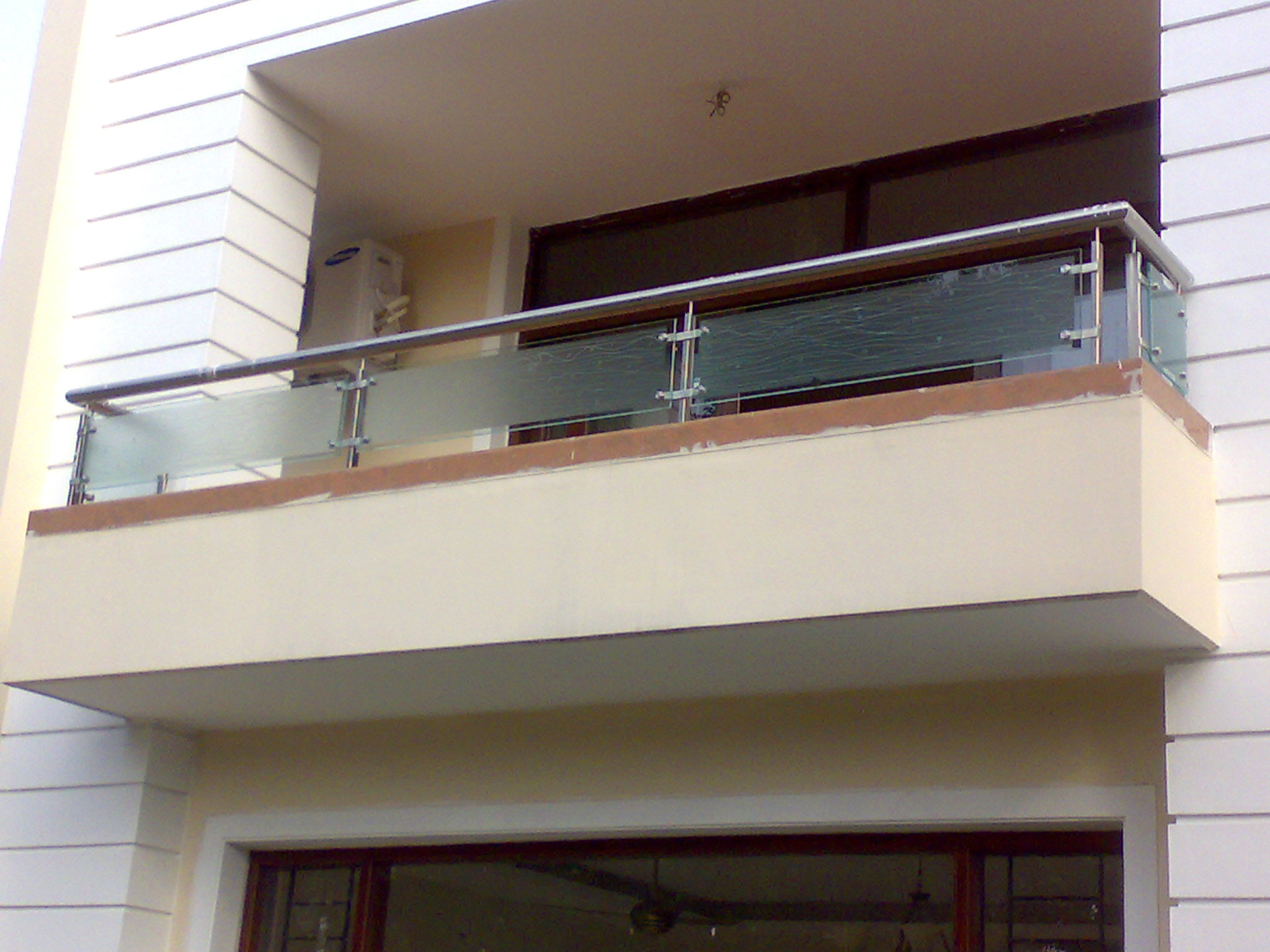 Buy stainless steel glass railing from Aay Emm Creations