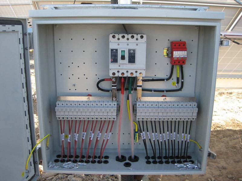 Box For A Solar Panel And Solar On Solar Combiner Box Wiring