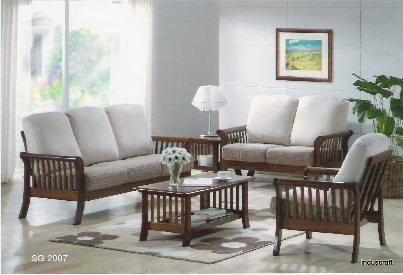 sofa set designs for living room india decorating ideas small rooms apartment buy wooden from induscraft id 730185 inss10