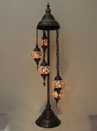 Buy Turkish Handmade 5 Ball Mosaic Floor Lamps from ...