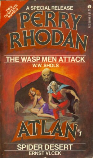 book cover of Spider Desert (Perry Rhodan Atlan, book 1) by Ernst Vlcek