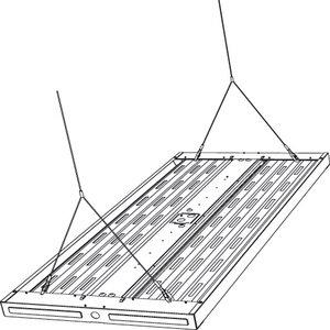 LHVQM5 5' Adjustable Cable Hanger Kit for Hubbell LHA