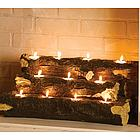 Copper Plated Oval Firewood Tub