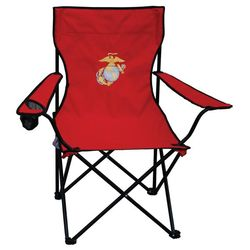 US Marine Corps Embroidered Red Folding Chair  FindGiftcom