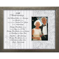 25th Wedding Anniversary Toast And Photo Frame