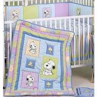 Snoopy and Family 6 Piece Crib Bedding Set - FindGift.com