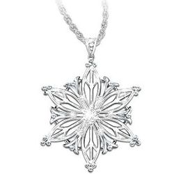 Diamond Snowflake Pendant with a Granddaughter Poem