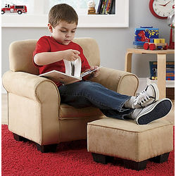 kids chair with ottoman aluminum management kid sized club findgift com