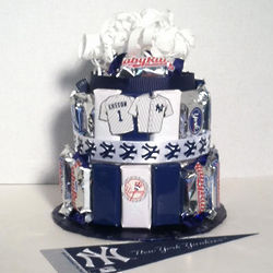 Yankees Baseball Candy Bar Cake Findgift Com