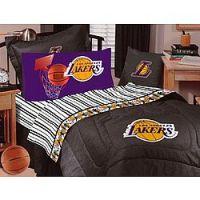 Los Angeles Lakers NBA Twin Comforter and Sheet Set Combo ...